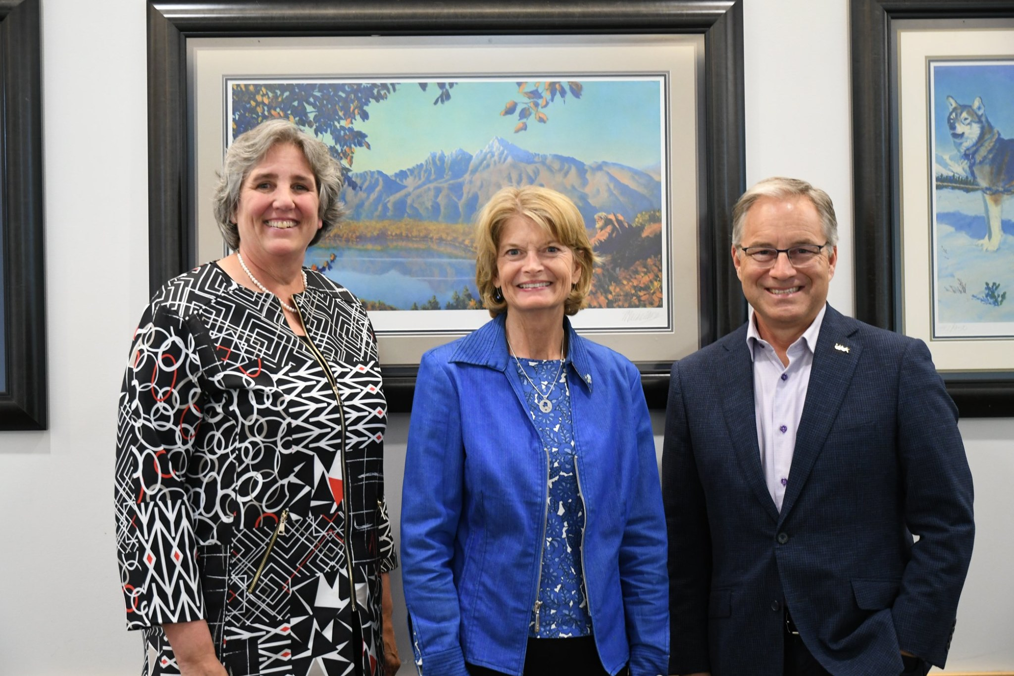Murkowski with Pitney and Parnell