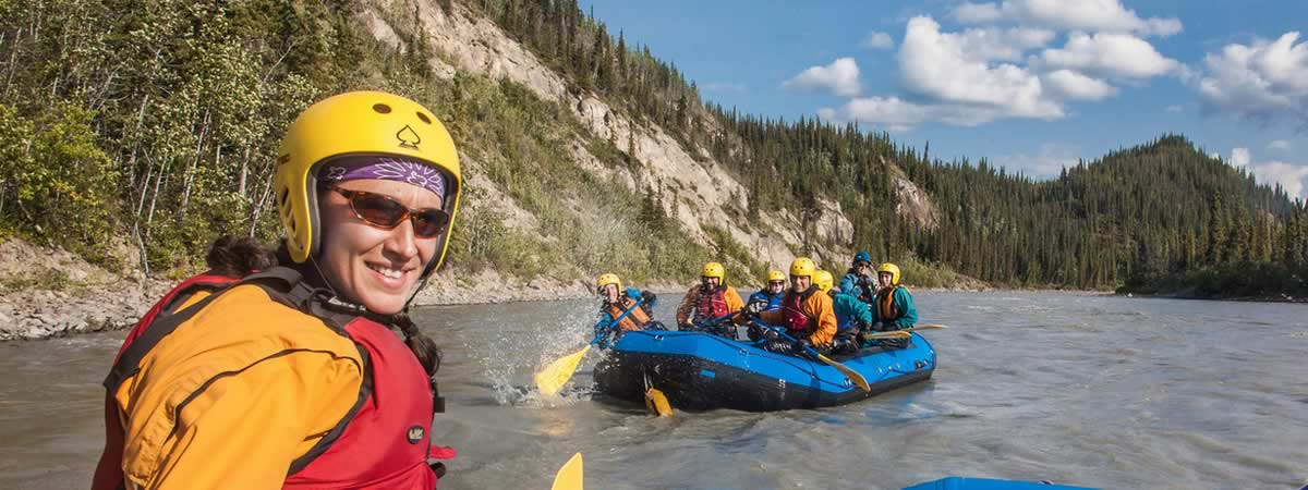 Students Rafting