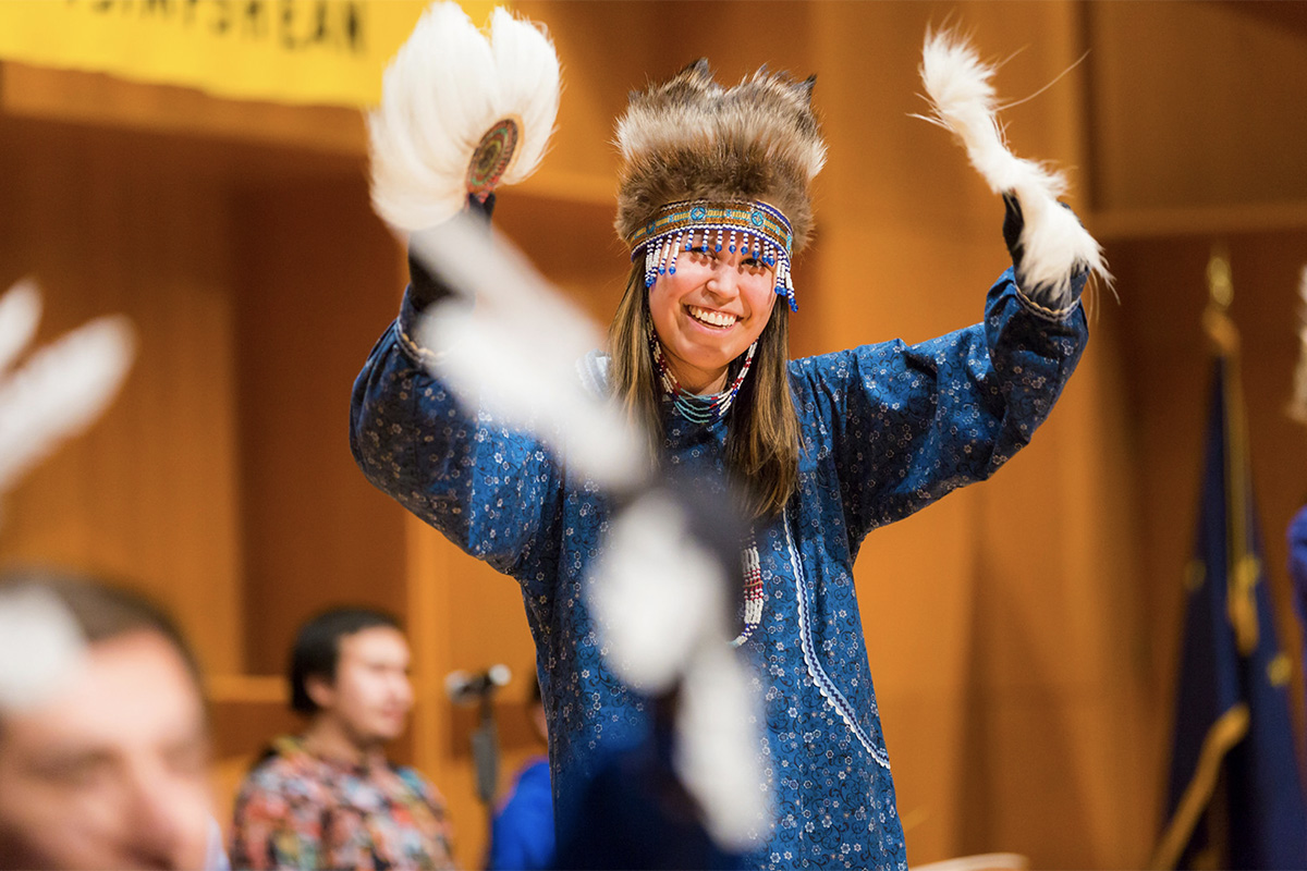 AK NAtive Arts Festival dancer