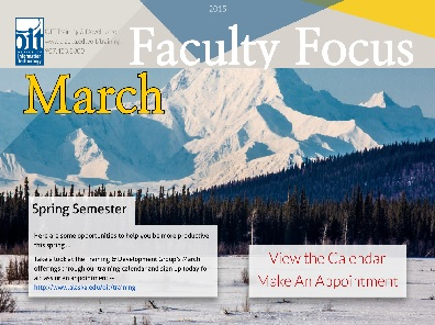 March Faculty Training Opportunities