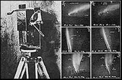 Special camera with simple movement of the lens takes six pictures in rapid succession. Veryl Fuller used this to take the first auroral photos.