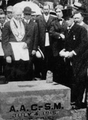 July 4, 1915 ceremony for laying the cornerstone of the first campus building. Photo: UAF Archives