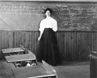 Photograph of Harriet Hess in a classroom. Photo: UAF Rasmuson Library, Charles Bunnell Collection